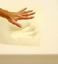memory foam with hand imprint